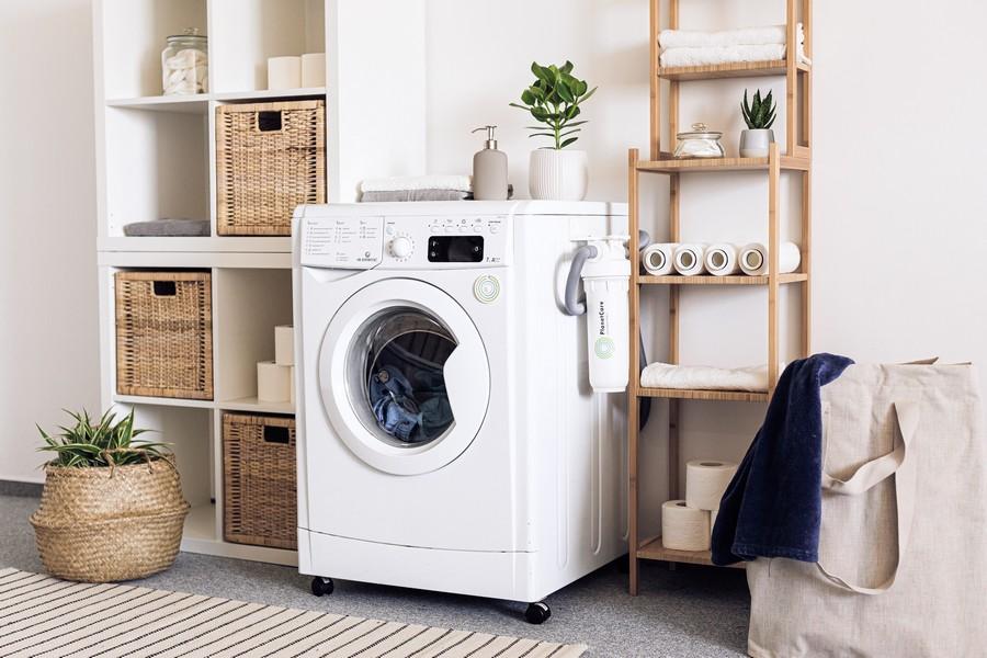 machine à laver dans une buanderie